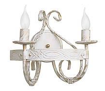"""Люстра кованая  """"Кардинал""""  белая с серебром на 5 ламп, фото 2"""