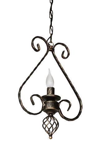 "Кованый подвес  ""Кардинал""  старая бронза на 1 лампу, фото 2"
