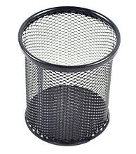 "Стакан-подставка ""Сетка"", круглый, металл, 9х9х10 см / черный"
