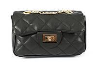 Клатч из экокожи Chanel 016 черныйТурция
