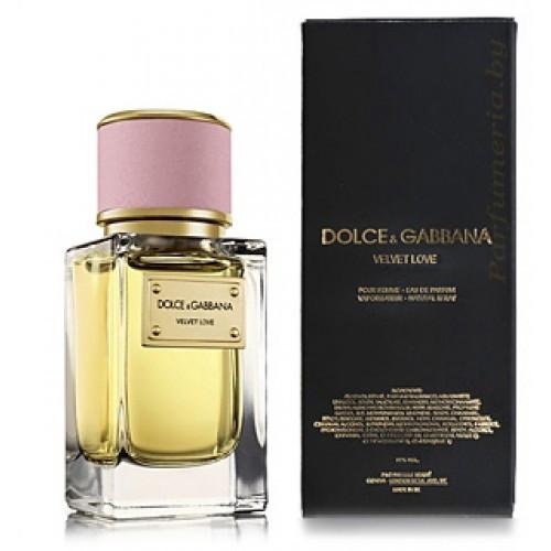 Женская парфюмированная вода Velvet Love Dolce&Gabbana (яркие цветочные ноты гвоздики с озера Комо) копия