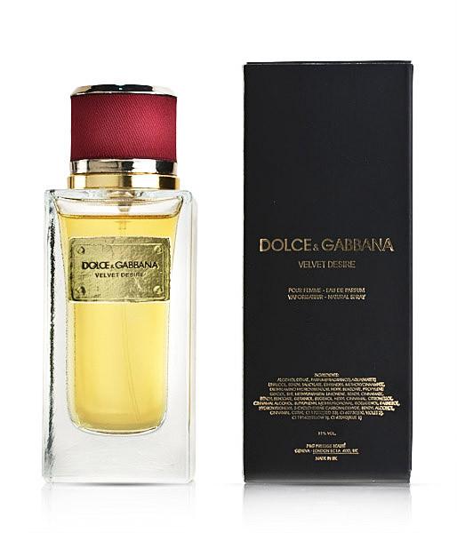 Женская парфюмированная вода Velvet Desire Dolce&Gabbana (роскошный цветочный букет)  копия