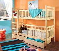 Двухъярусная кровать из дерева «Славко» 1 Сорт