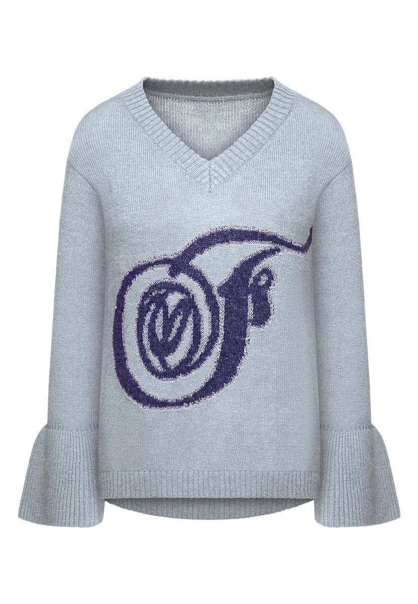 c1668eff1d9 Faberlic Вязаный джемпер цвет серо-голубой размер 40 42 44 46 48 50 52 54