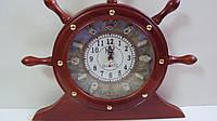 Часы штурвал деревянный размер 36*31
