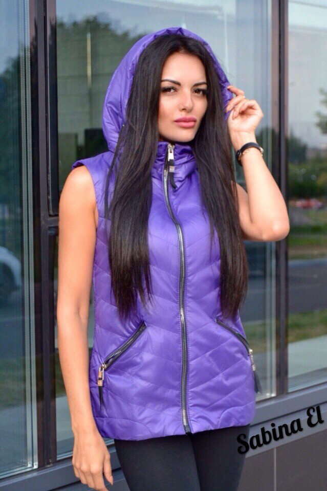 Женская жилетка-безрукавка на молнии в расцветках. ЕЛ-23-0818