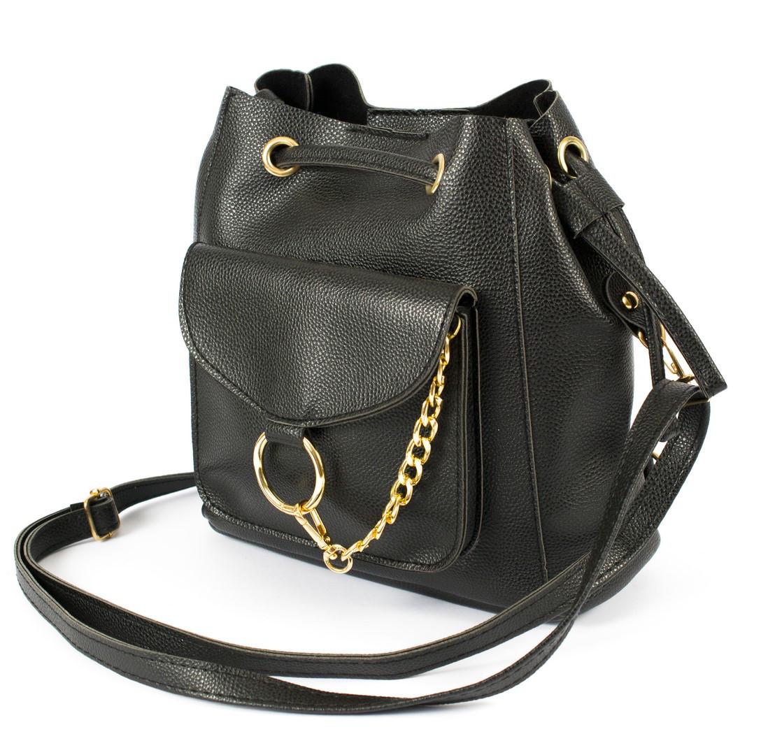 4ab539c8fc5b Купить Рюкзак-сумка из искусственной кожи Wera Polo 05 черный Турция ...