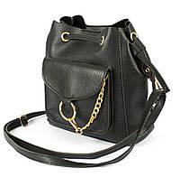 Рюкзак-сумка из искусственной кожи Wera Polo 05 черный Турция