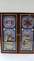 Ключница настенная  деревянная «Морская сказка» размер 40*35*7, фото 1