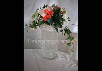 Оформление цветами выездной церемонии, свадебного зала .