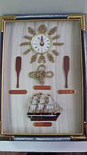 Ключница настенная  деревянная «Музыка морей» размер 35*25*7