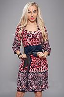 Стильное женское платье в модный принт, цвета в ассортименте