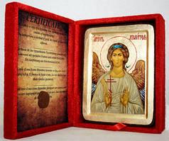 Икона греческая Ангел- Хранитель золото