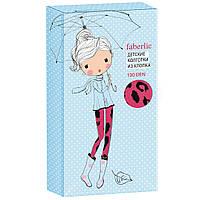 Faberlic Колготки детские с леопардовым принтом плотность 100 den цвет малиновый размер 92-98 104-110 116-122 128-134 140-146 Анималиста арт 82143