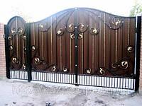 Ворота из профнастила слысточкамы №1