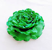 """Брошь цветок из ткани ручной работы """"Зеленая роза"""""""
