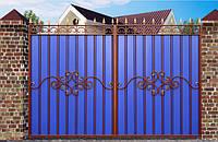 Ворота из профнастила с заветкамы №2