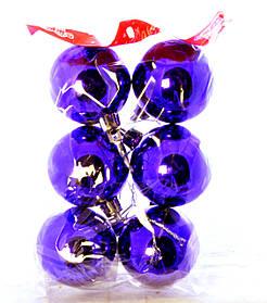 Набор глянцевых шаров 6 шт. Диаметр 5 см.