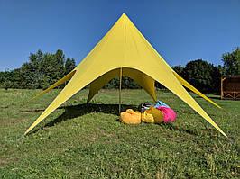 АРЕНДА - Палатка Звезда-10 желтая по Киеву (Украине)