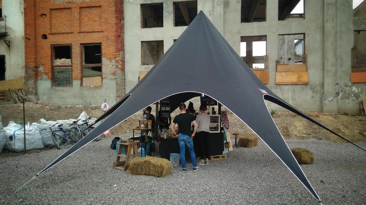 АРЕНДА - Палатка Звезда-10 черная по Киеву (Украине)
