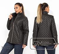 Куртка демисезонная с подкладом на синтепоне 100, застежкой на молнии и высоким воротом р. 48-54