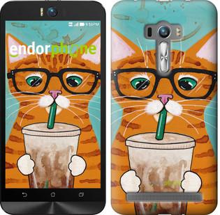 Чехол на Asus ZenFone Selfie ZD551KL Зеленоглазый кот в очках