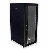 """Шкаф 19"""" 18U, 610х865 мм (Ш*Г), усиленный, черный"""