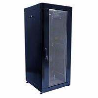 """Шкаф 19"""" 24U, 610х675 мм (Ш*Г), усиленный, черный"""