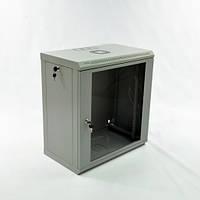 Шкаф 12U, 600х350х640 мм (Ш*Г*В), эконом, акриловое стекло, серый.
