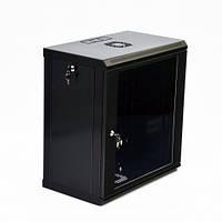 Шкаф 12U, 600х350х640 мм (Ш*Г*В), эконом, акриловое стекло, черный.