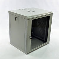 Шкаф 12U, 600х500х640 мм (Ш*Г*В), эконом, акриловое стекло, серый.