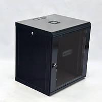 Шкаф 12U, 600х500х640 мм (Ш*Г*В), эконом, акриловое стекло, черный.