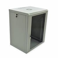 Шкаф 15U, 600х500х773 мм (Ш*Г*В), эконом, акриловое стекло, серый.