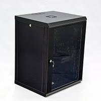 Шкаф 15U, 600х500х773 мм (Ш*Г*В), эконом, акриловое стекло, черный.