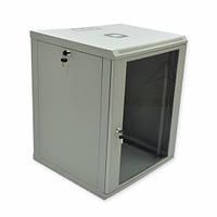 Шкаф 15U, 600х600х773 мм (Ш*Г*В), эконом, акриловое стекло, серый.
