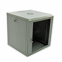 Шкаф 12U, 600х600х640 мм (Ш*Г*В), эконом, акриловое стекло, серый.