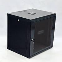 Шкаф 12U, 600х600х640 мм (Ш*Г*В), эконом, акриловое стекло, черный.