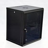 Шкаф 15U, 600х600х773 мм (Ш*Г*В), эконом, акриловое стекло, черный.