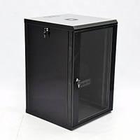 Шкаф 18U, 600х600х907 мм (Ш*Г*В), эконом, акриловое стекло, черный.