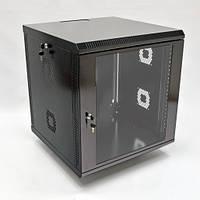 Шкаф 12U, 600х600х640 мм (Ш*Г*В), акриловое стекло, черный