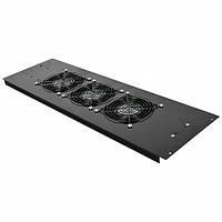 3-х вентиляторный блок в крышу для шкафов MGSE 610мм, черный