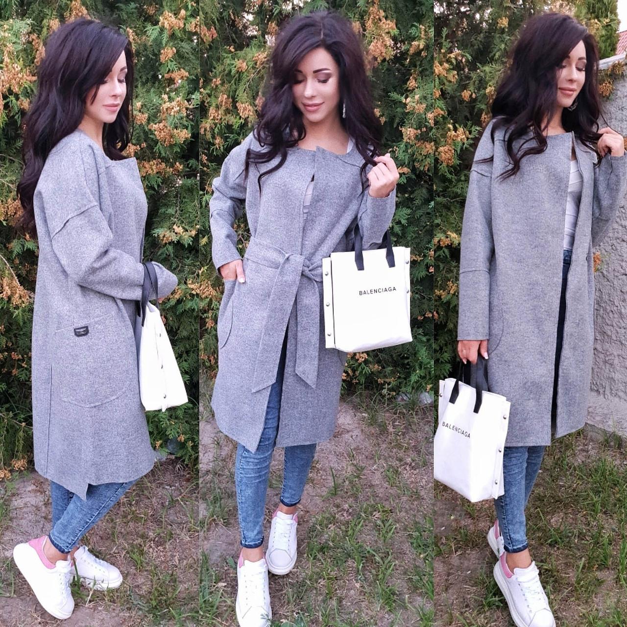 Женское кашемировое пальто-кардиган