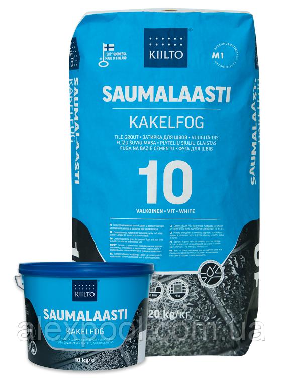 Фуга Kiilto Saumalaasti 1-6mm (10 біла) 3 кг.