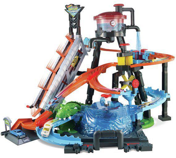 Трек Хот Вилс Водонапорная башня Невообразимая автомойка Измени цвет Hot Wheels Ultimate Gator Carwash