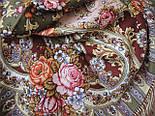Таинственный образ 1782-53, павлопосадский платок шерстяной с шелковой бахромой, фото 5