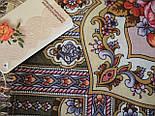 Таинственный образ 1782-53, павлопосадский платок шерстяной с шелковой бахромой, фото 3