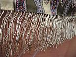 Таинственный образ 1782-53, павлопосадский платок шерстяной с шелковой бахромой, фото 8
