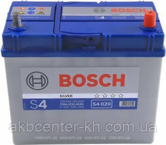 Аккумулятор автомобильный BOSCH 6CT-45 Asia S4 R тонкие клеммы 330A
