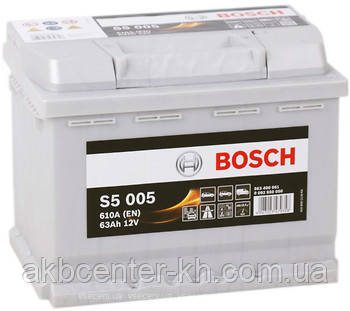 Аккумулятор автомобильный BOSCH 6CT-63  S5 R 610A