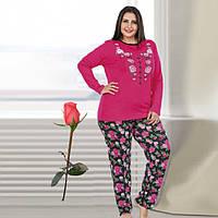 Женская пижама из турецкого трикотажа Большой размер Т 77139 4c9bed2c97170